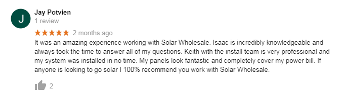 solar wholesale review jay potvien