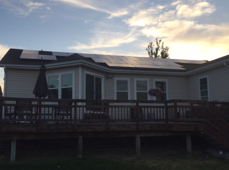 Andrew S. solar array with Solar Wholesale