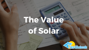 The Value of Solar