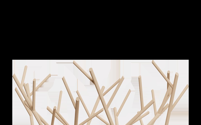 arbre en bois décoratif