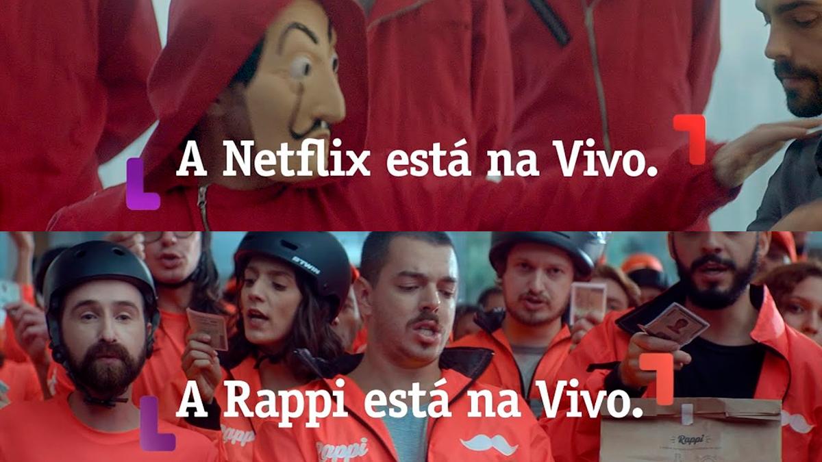 Vivo anuncia em parceria com Netflix e Rappi