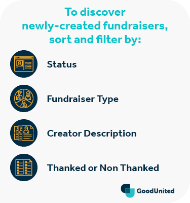 Use the sort & filter tool to discover peer-to-peer fundraisers on Facebook.