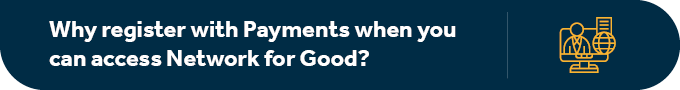 Why register with Facebook Payments when you can access Network for Good?