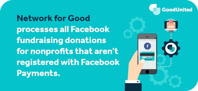 This graphic describes the connection between Network for Good and Facebook.