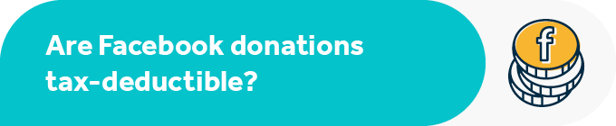 Are Facebook donations tax deductible?
