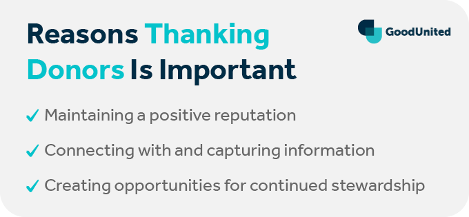 These are the reasons that it's so important to thank donors on Facebook.