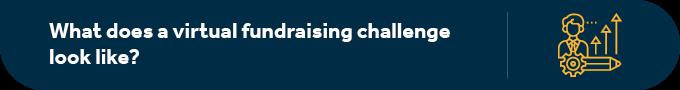 What does a virtual peer-to-peer fundraising challenge look like?