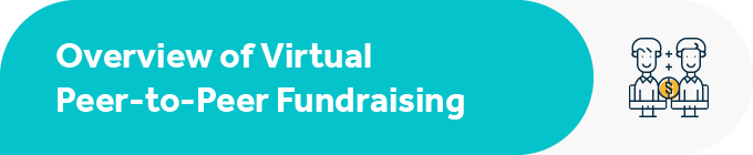 This section includes an overview of virtual peer-to-peer fundraising.