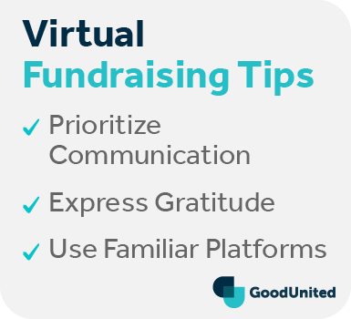 These are our top tips for your next virtual fundraiser.