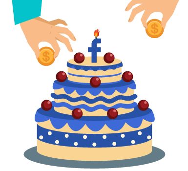 This image illustrates a Facebook birthday fundraiser, one of our virtual fundraising ideas.