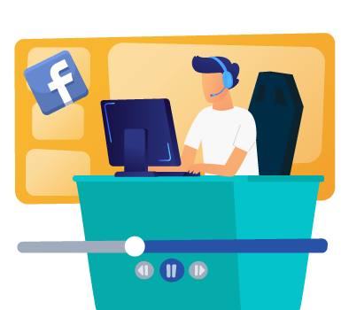 This image illustrates a Facebook Live fundraiser, one of our virtual fundraising ideas.