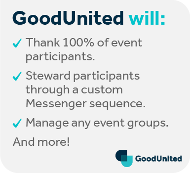 This is how GoodUnited can help optimize your next virtual fundraising event.