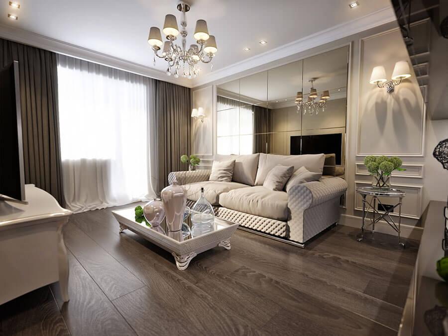 Os espelhos são ótimos para decorar apartamentos pequenos, pela sensação de amplitude ao ambiente que eles proporcionam. Quer saber mais dicas? Veja a matéria completa no Blog da Lavvi