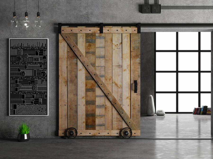 Práticas e econômicas de espaço, as portas de correr são perfeitas para apartamentos pequenos e ainda trazem um ar moderno à decoração