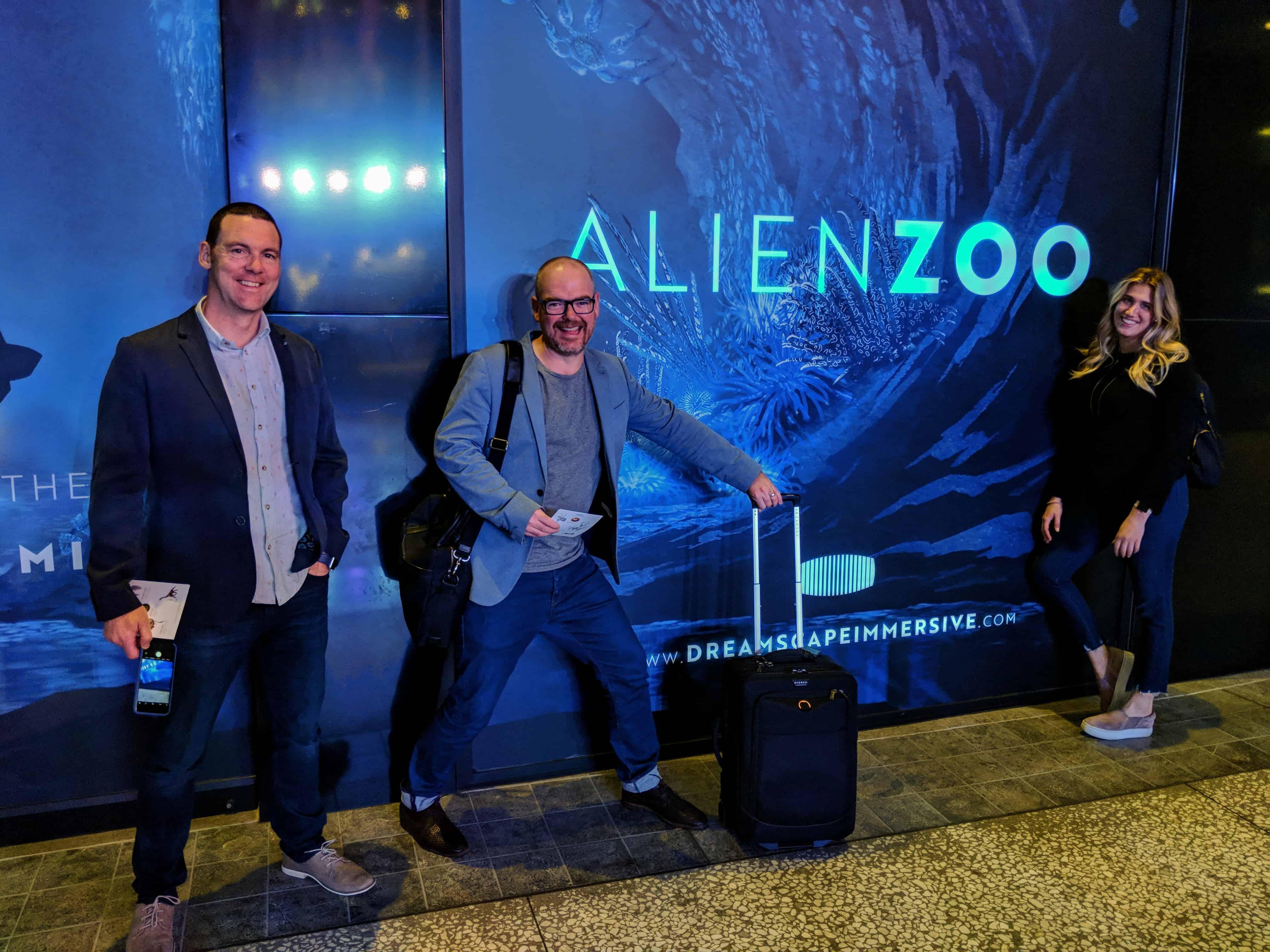 Martin, Nathan and Ella check out Dreamscape Immersive's Alien Zoo in LA