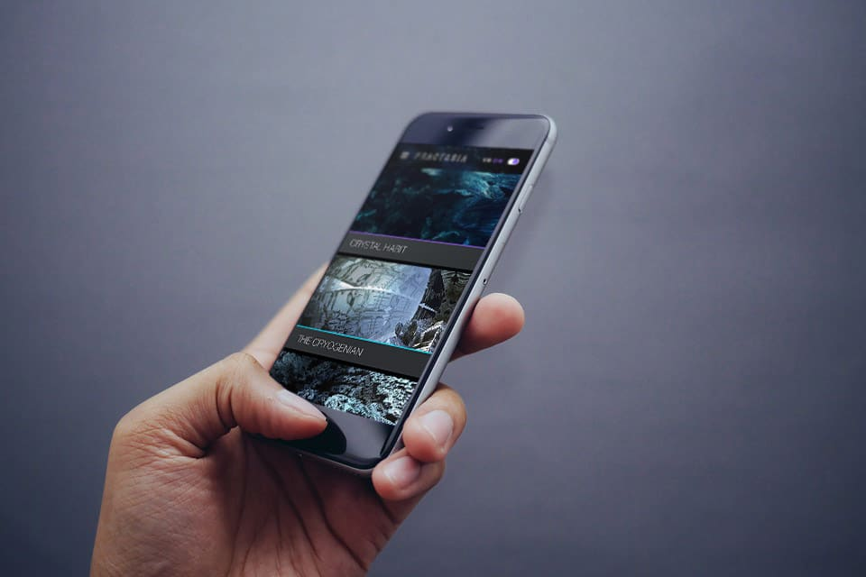 Julius Horsthuis Fractasia VR Project Mobile Mockup