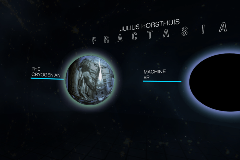 Julius Horsthuis Fractasia VR Project Menu Interface