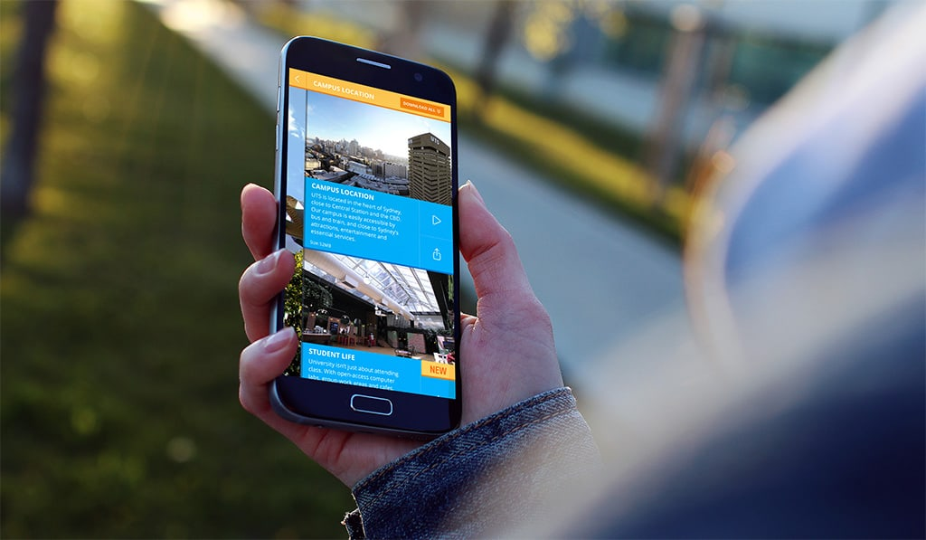 UTS VR Phone Mockup