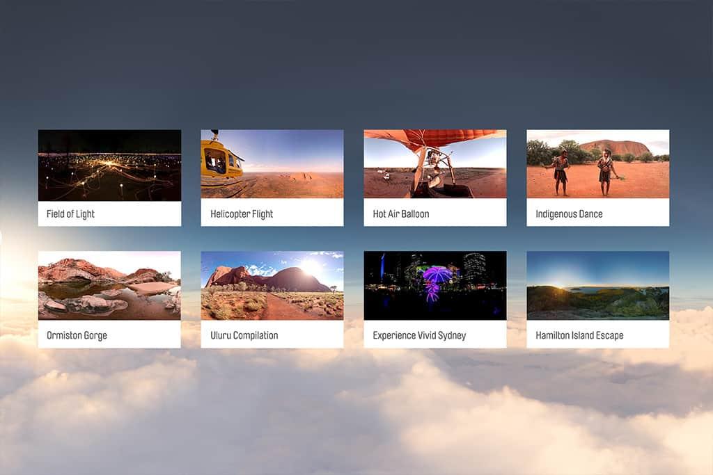 Qantas VR 3D Menu