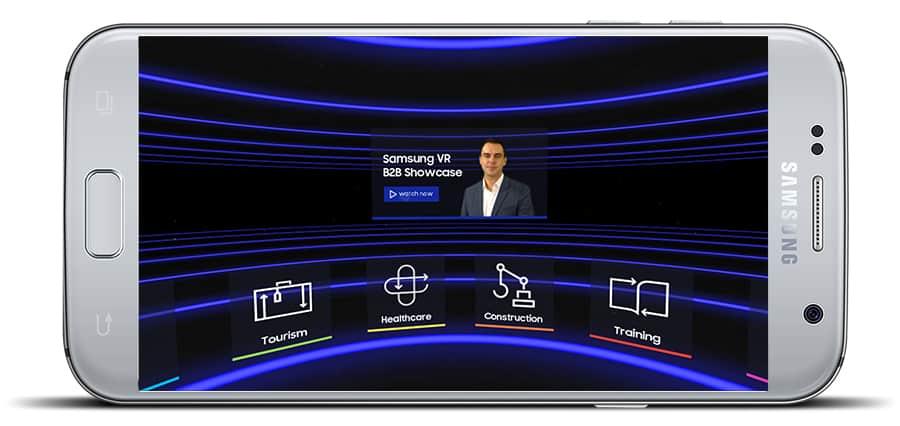 Samsung VR B2B Showcase Mockup