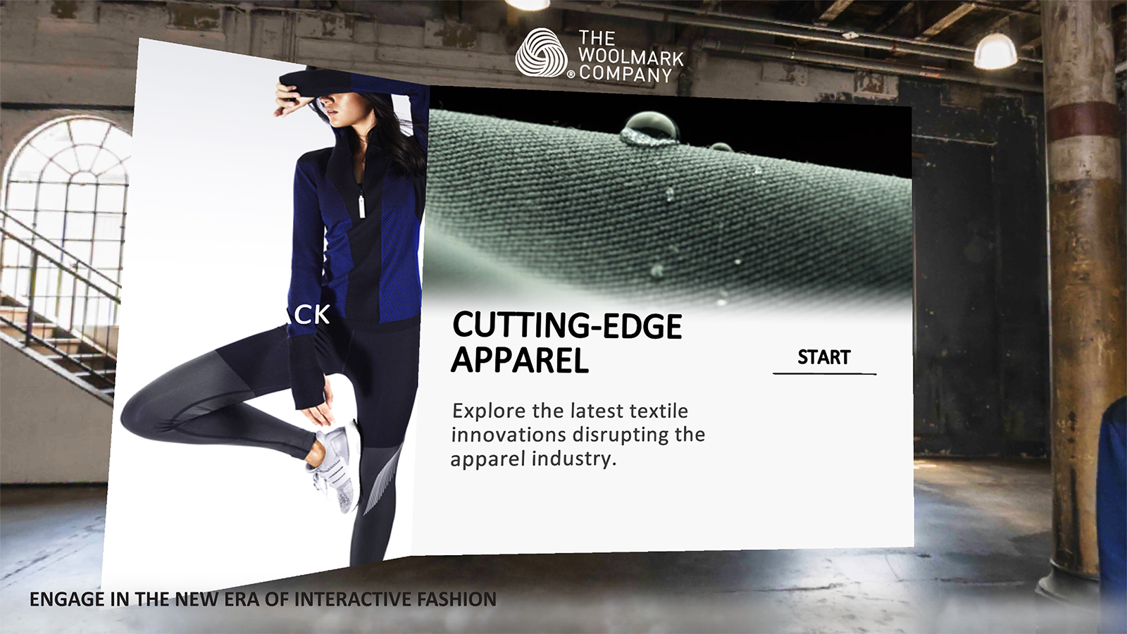 Woolmark VR Menu project screenshot 02