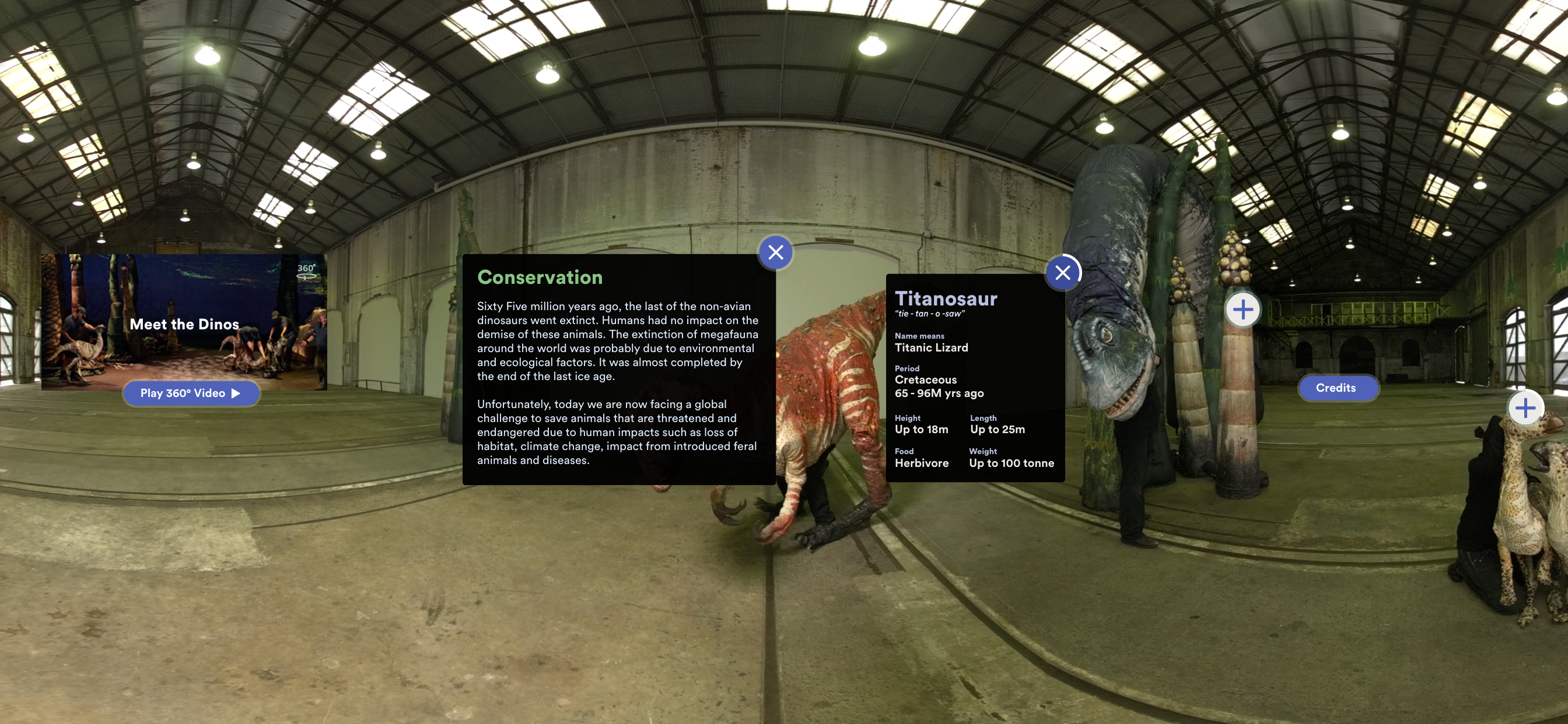 Digital Dinos menu by Sydney Opera House and Erth