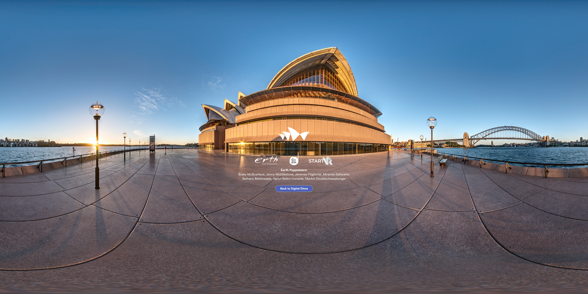 Digital Dinos credits screen by Sydney Opera House and Erth
