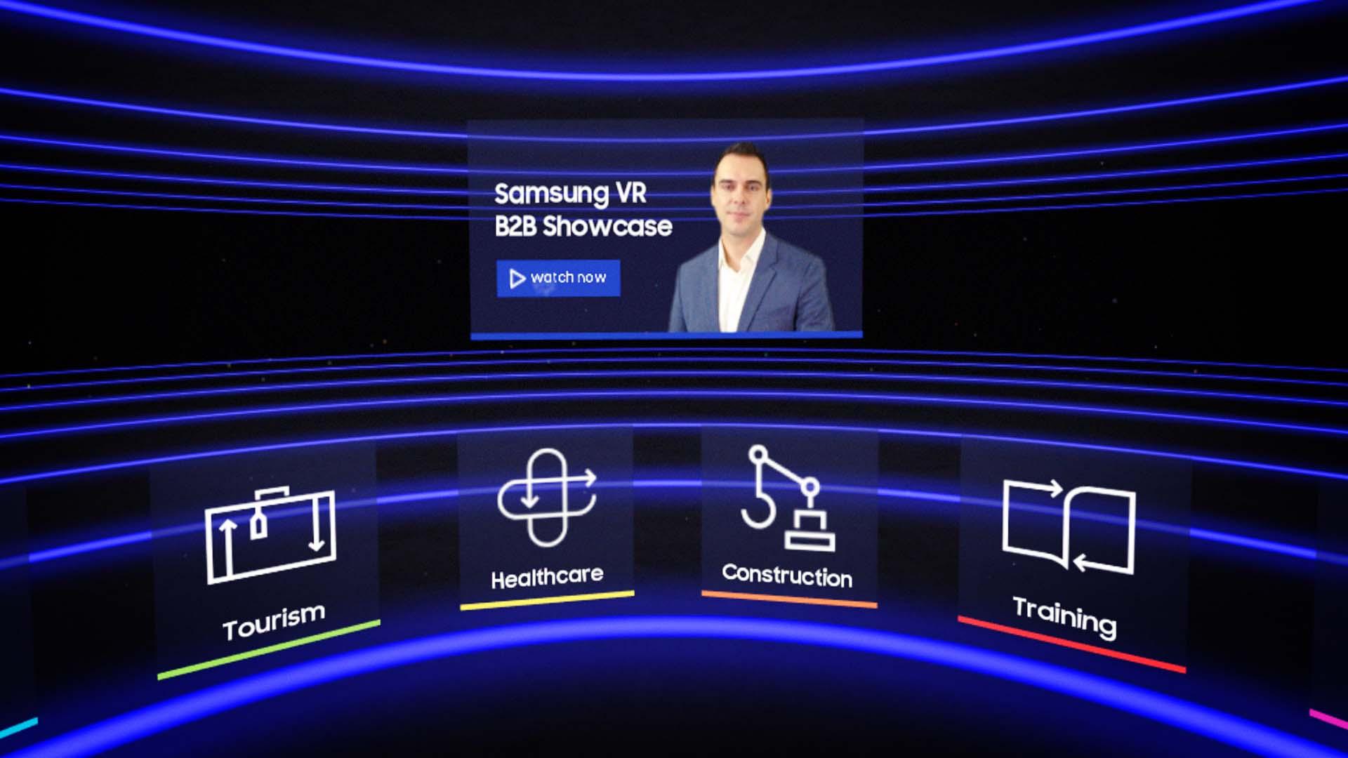Samsung VR B2B Showcase Menu Scree