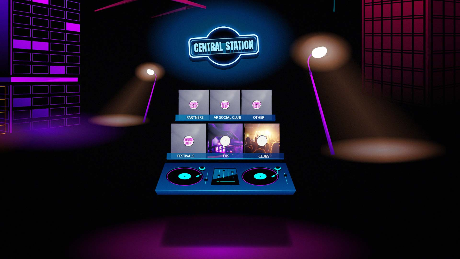 Central Station Records VR Interface