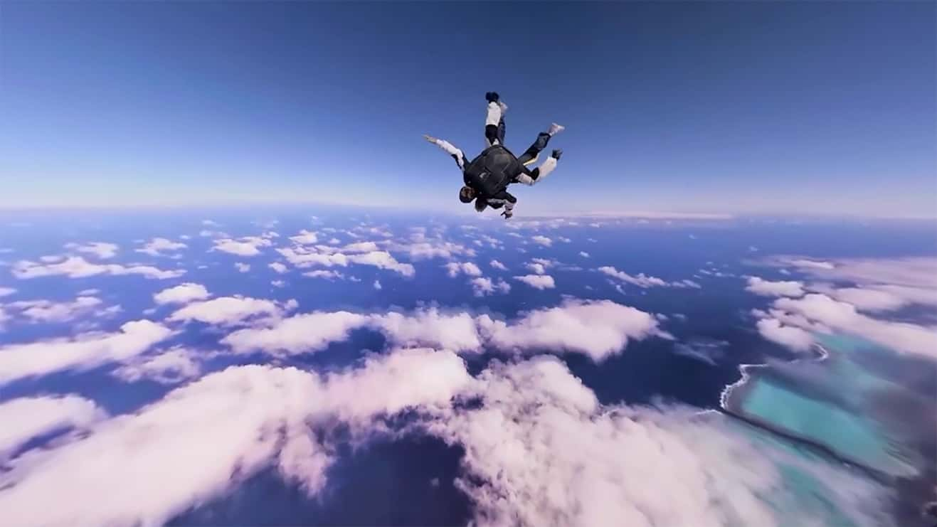New Caledonia VR Screen Shot Sky Dive