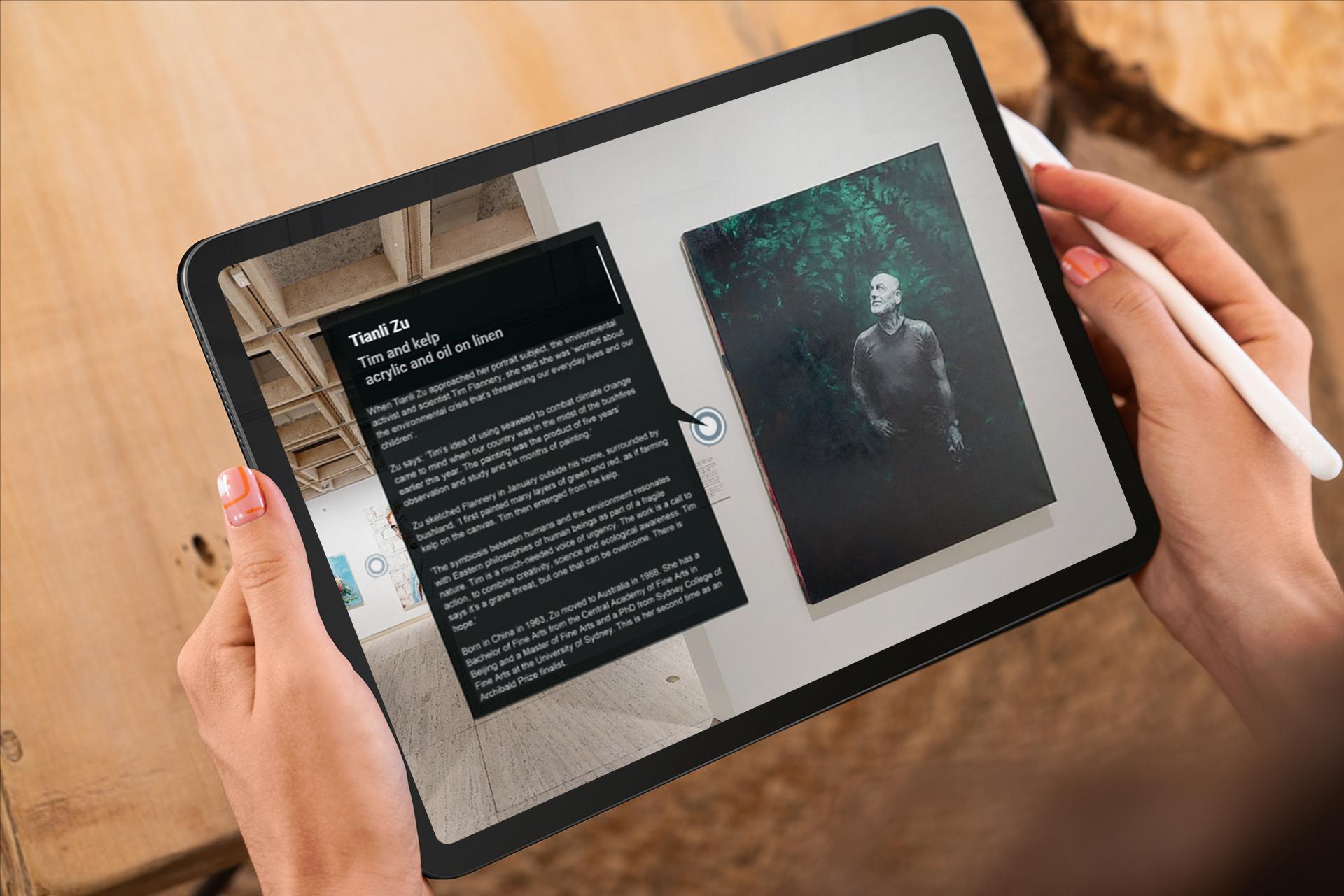Archibald Prize Virtual Tour Tablet View