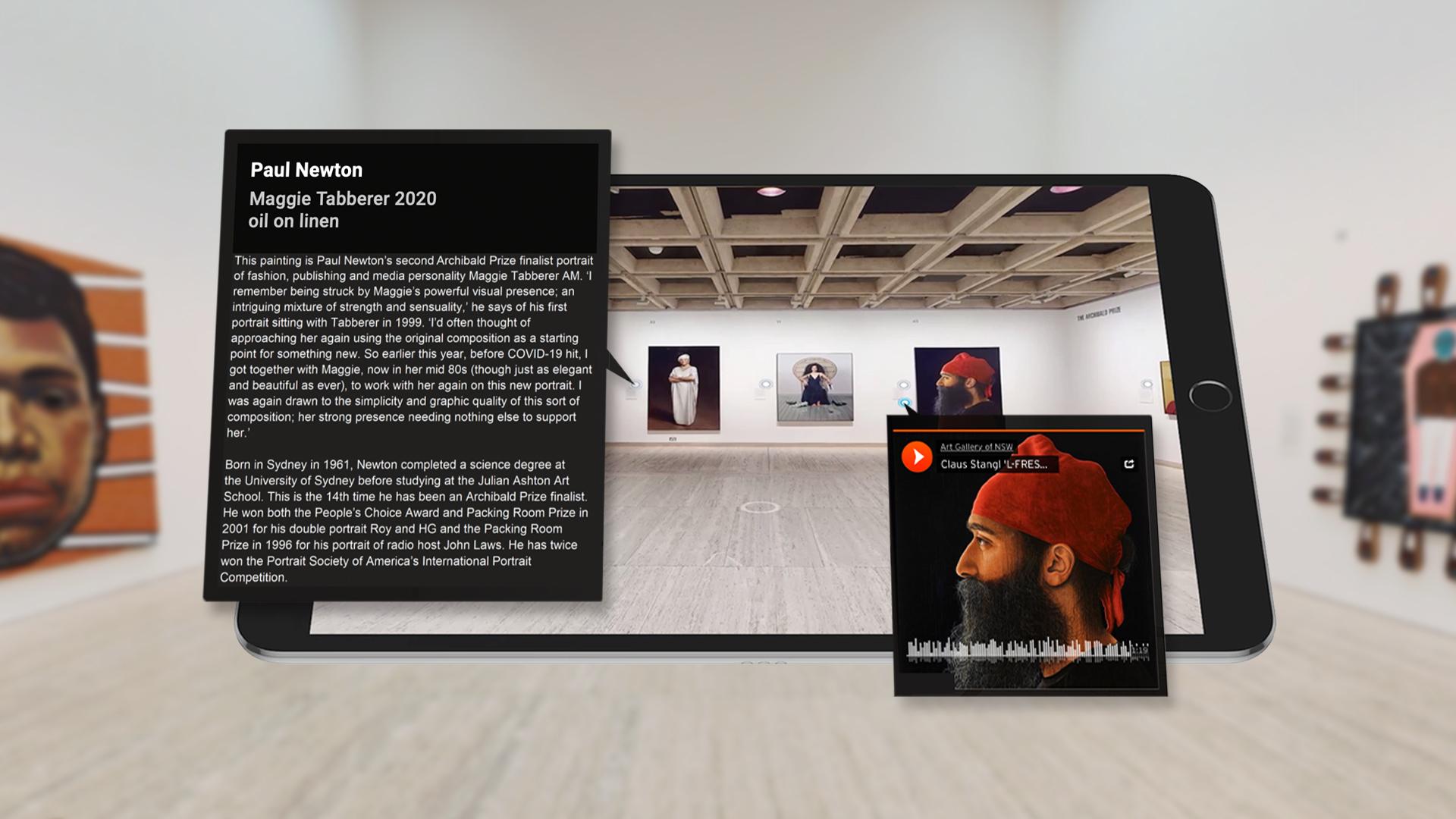 Archibald Prize Virtual Tour Tablet Feature