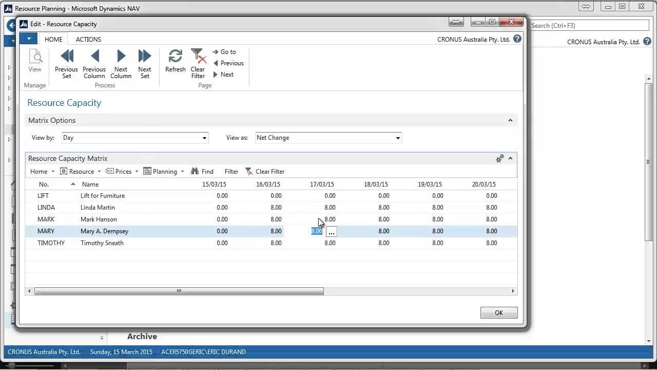 Microsoft Dynamics NAV Planning