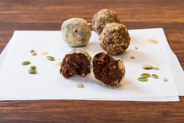 dairy free catering ideas - raw vegan protein ball