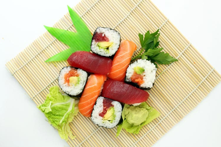 sushi catering - dairy free food ideas