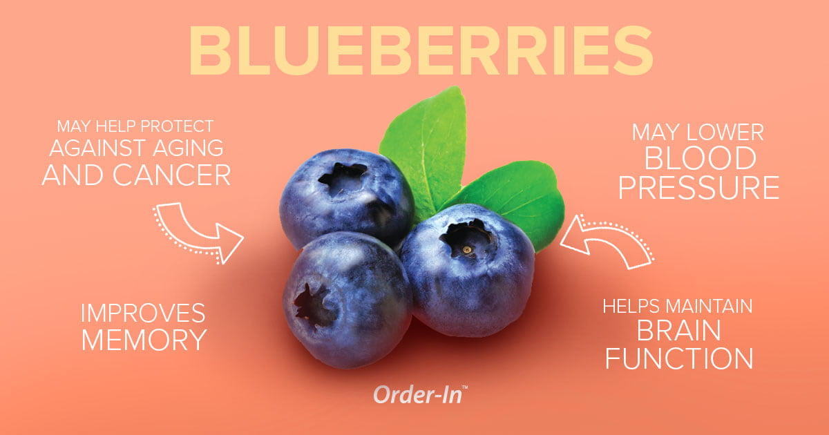 benefits of eating fresh fruit - blueberries