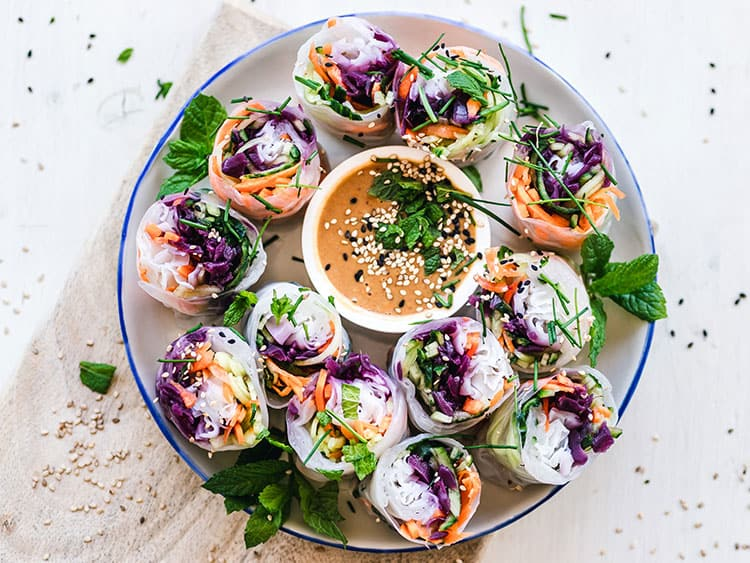 Christmas finger food ideas - Vietnamese catering