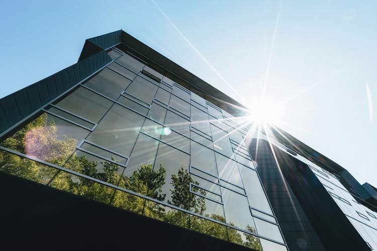 office building - sun
