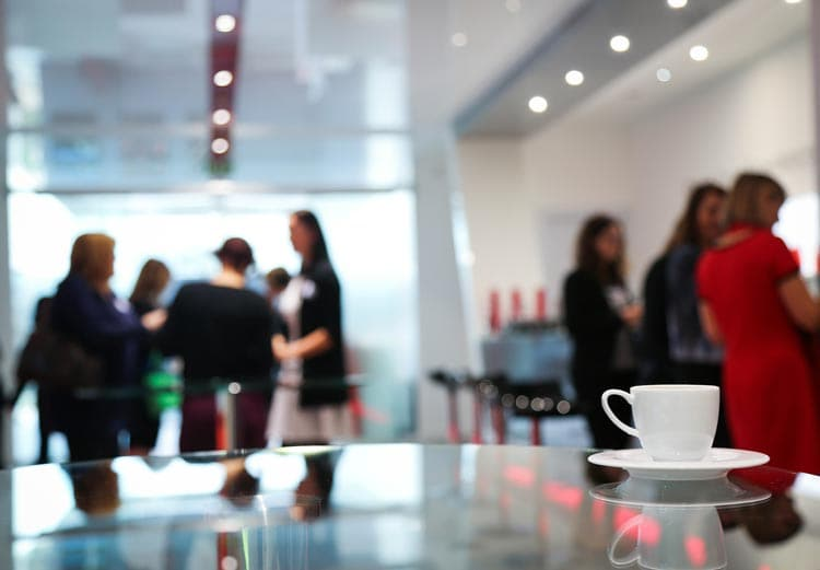 networking and coffee breaks