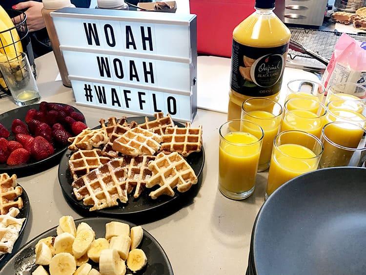 breakfast catering ideas - breakfast waffle station