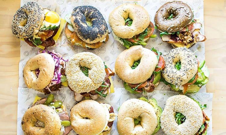 breakfast bagels - breakfast catering ideas