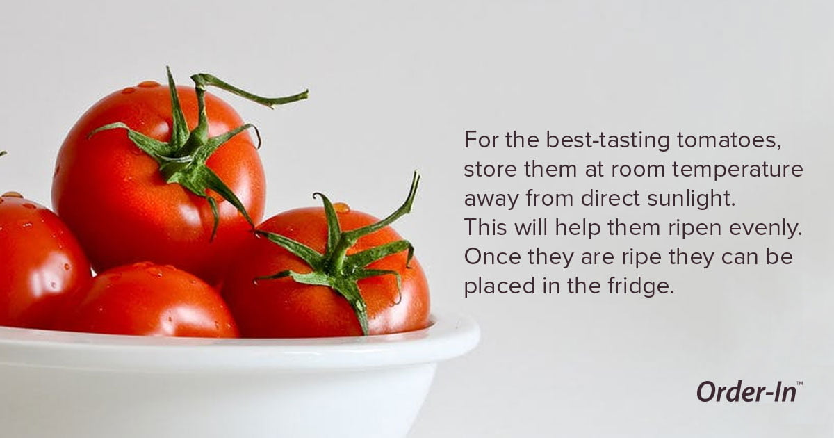 reduce food waste - how to store tomatoes