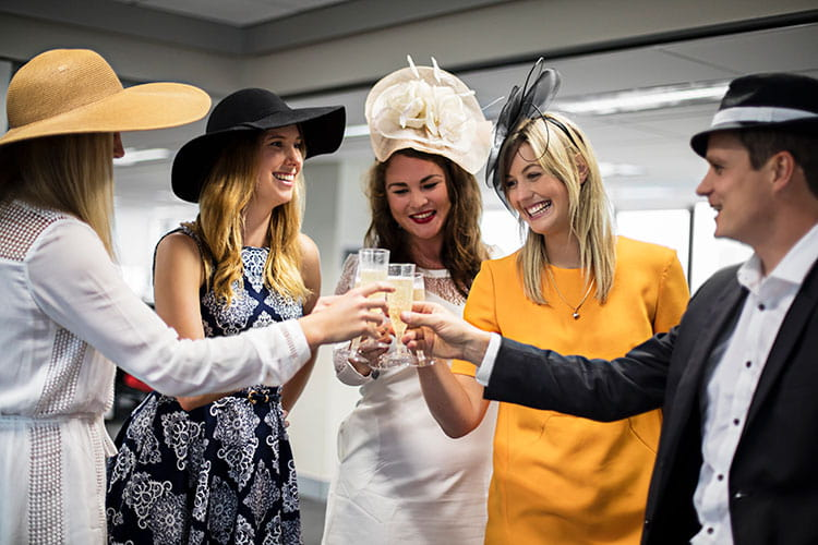 enjoy champagne at your office Melbourne Cup lunch