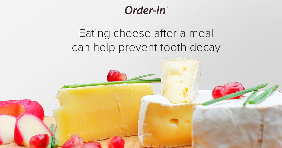fun fact about dairy - eating cheese after a meal can prevent tooth decay