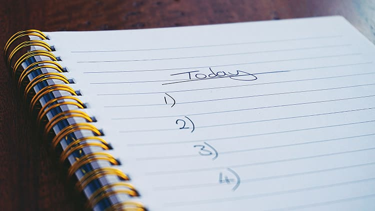 back to work tips - prioritise your tasks