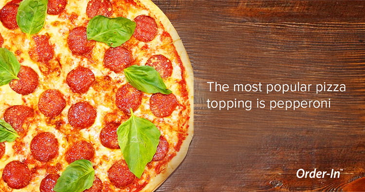 the most popular pizza topping is pepperoni