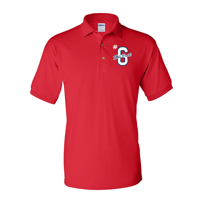 #6 Red Jersey Polo
