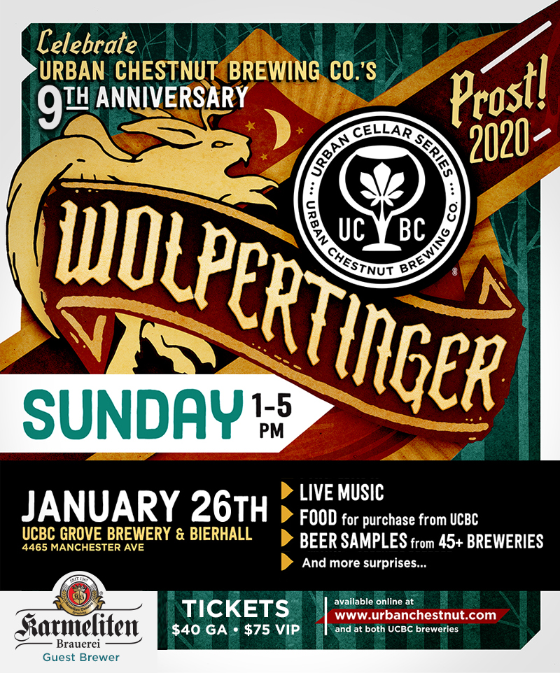 Urban Chestnuts anniversary beer festival, Wolpertinger, returns Jan. 26 2020