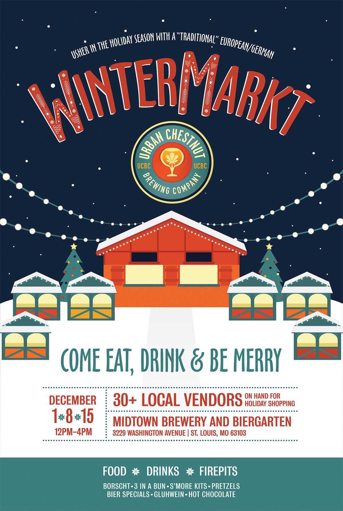 "Usher in the holiday season with a ""traditional"" European/German WinterMarkt at UCBC"