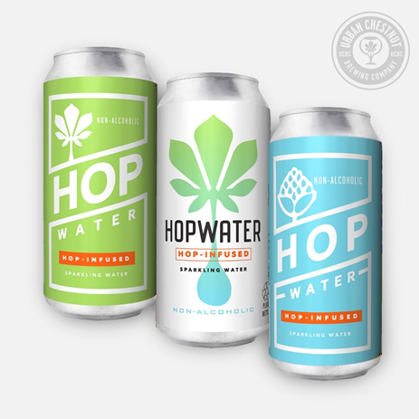 UCBC Sparkling Hop Water is unsweetened and naturally free of both alcohol and calories